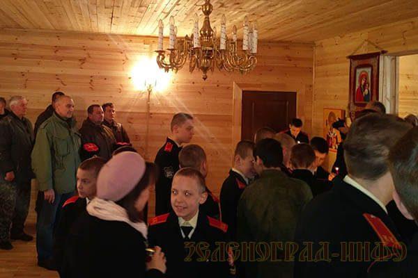 кадетские и казаки в храме зеленоград-инфо